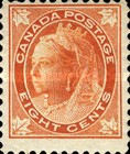[Queen Victoria - Maple Leaf in Corners, Typ P6]