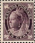 [Queen Victoria - Maple Leaf in Corners, Typ P7]
