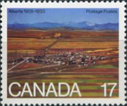 [The 75th Anniversary of Alberta and Saskatchewan Provinces, Typ ZK]