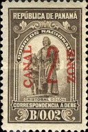 [Panama Postage Due Stams Surcharged, Typ C1]