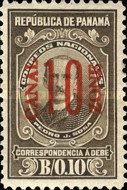 [Panama Postage Due Stams Surcharged, Typ C4]