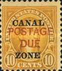 [Panama Canal Zone Postage Stamps Overprinted