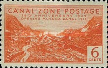[The 25th Anniversary of the Opening of Panama Canal, Typ AO]
