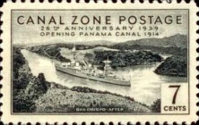 [The 25th Anniversary of the Opening of Panama Canal, Typ AP]