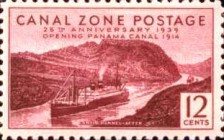 [The 25th Anniversary of the Opening of Panama Canal, Typ AT]