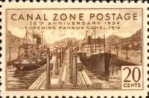 [The 25th Anniversary of the Opening of Panama Canal, Typ AX]
