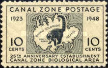 [The 25th Anniversary of Establishment of Canal Zone Biological Area, type BF]