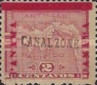 """[Panama Postage Stamps Overprinted """"CANAL/ZONE"""", """"8cts"""", type D]"""