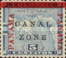"""[Panama Postage Stamps Overprinted """"CANAL/ZONE"""", """"8cts"""", type D1]"""