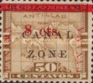 """[Panama Postage Stamps Overprinted """"CANAL/ZONE"""", """"8cts"""", type D2]"""