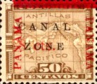 """[Panama Postage Stamps Overprinted """"CANAL/ZONE"""", """"8cts"""", type D3]"""