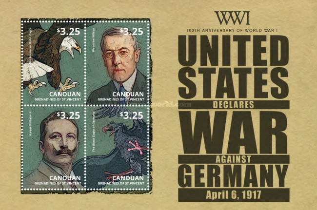 [The 100th Anniversary of the beginning of World War I - US Declares War against Germany, Typ ]