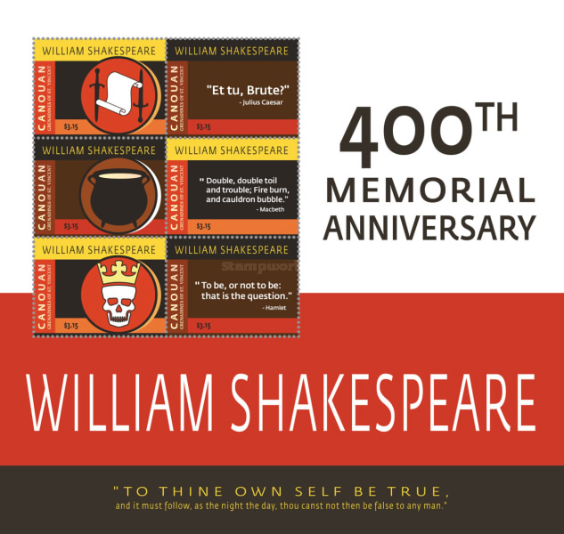 [The 400th Anniversary of the Death of William Shakespeare, 1564-1616, Typ ]
