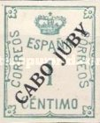 [Spanish Postage Stamp Overprinted