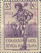 [Seville - Barcelona Exposition Issue - Spanish Postage Stamps Overprinted