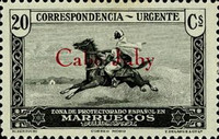 [Spanish Morocco Express Stamp Overprinted