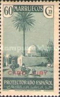 """[Spanish Morroco Postage Stamps Overprinted """"CABO JUBY"""" in Black, Red or Blue, type M11]"""