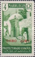 """[Spanish Morroco Postage Stamps Overprinted """"CABO JUBY"""" in Black, Red or Blue, type M15]"""