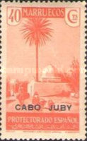 """[Spanish Morroco Postage Stamps Overprinted """"CABO JUBY"""" in Black, Red or Blue, type M9]"""