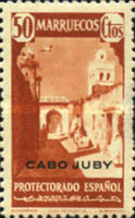 """[Spanish Morocco Postage Stamps Overprinted """"CABO JUBY"""", Typ S10]"""