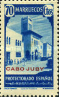 """[Spanish Morocco Postage Stamps Overprinted """"CABO JUBY"""", Typ S11]"""