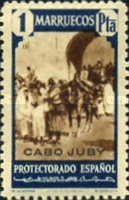 """[Spanish Morocco Postage Stamps Overprinted """"CABO JUBY"""", Typ S12]"""