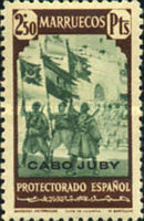 """[Spanish Morocco Postage Stamps Overprinted """"CABO JUBY"""", Typ S13]"""
