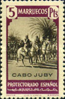 """[Spanish Morocco Postage Stamps Overprinted """"CABO JUBY"""", Typ S14]"""