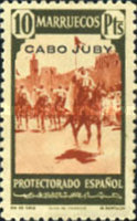 """[Spanish Morocco Postage Stamps Overprinted """"CABO JUBY"""", Typ S15]"""
