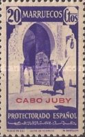 """[Spanish Morocco Postage Stamps Overprinted """"CABO JUBY"""", Typ S5]"""