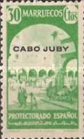 """[Spanish Morocco Postage Stamps Overprinted """"CABO JUBY"""", Typ S7]"""