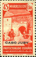"""[Spanish Morocco Postage Stamps Overprinted """"CABO JUBY"""", Typ S9]"""