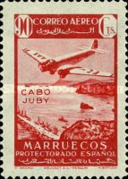 [Airmail - Spanish Morroco Stamps Overprinted