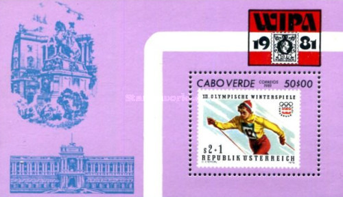 [Skiing - International Stamp Exhibition