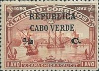 [Vasco da Gama Issue - Macao Postage Stamps Surcharged, Typ M1]