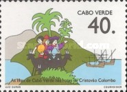 [The 500th Anniversary of Discovery of America by Columbus - Columbus's Landings in Cape Verde Islands, Typ NA]