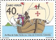 [The 500th Anniversary of Discovery of America by Columbus - Columbus's Landings in Cape Verde Islands, type NB]