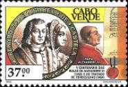[The 500th Anniversaries of Pope Alexander VI's Bulls (on Portuguese and Spanish Spheres of Influence) and of Treaty of Tordesillas, Typ NV]