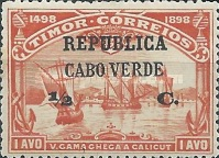 [Vasco da Gama Issue - Timor Postage Stamps Surcharged, Typ O1]