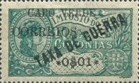 [War Tax Stamps of Portuguese Africa Surcharged, type U2]