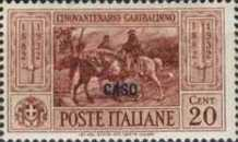 "[Italian Occupation- Italian Postage Stamps No. 360-369 Overprinted ""CASO"", tyyppi L]"
