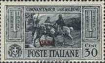 "[Italian Occupation- Italian Postage Stamps No. 360-369 Overprinted ""CASO"", tyyppi L1]"