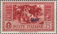 "[Italian Occupation- Italian Postage Stamps No. 360-369 Overprinted ""CASO"", tyyppi N]"