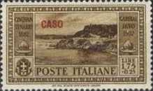 "[Italian Occupation- Italian Postage Stamps No. 360-369 Overprinted ""CASO"", tyyppi P]"