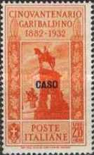 "[Italian Occupation- Italian Postage Stamps No. 360-369 Overprinted ""CASO"", tyyppi Q]"