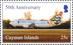 [The 50th Anniversary of Cayman Airways, type AQS]