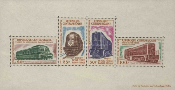 [Airmail - Bangui-Douala Railway Project, type ]