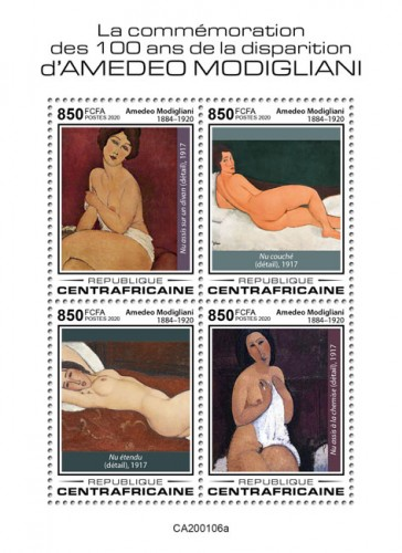 [The 100th Anniversary of the Death of Amedeo Modigliani, 1884-1920, type ]