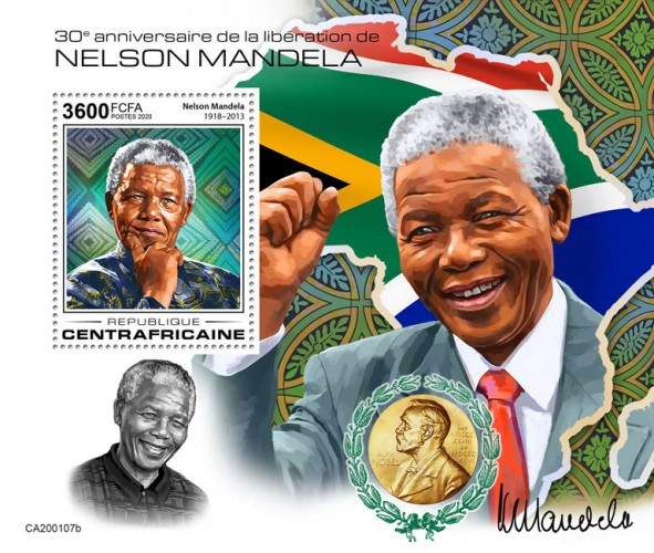 [The 30th Anniversary from the Releases of Prison of Nelson Mandela, 1918-2013, type ]