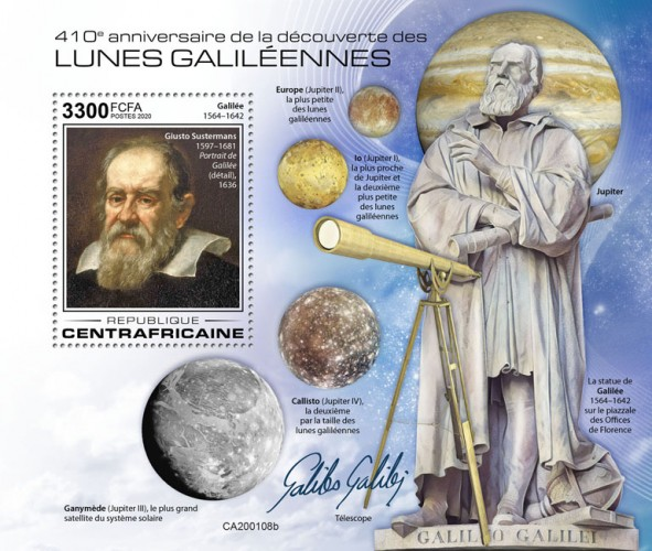 [The 410th Anniversary of the First Observation of Four Galilean Moons, by Galileo Galilei, 1564-1642, type ]